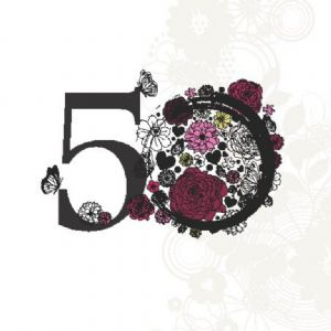 Age 50 Elegant Birthday Card TW134